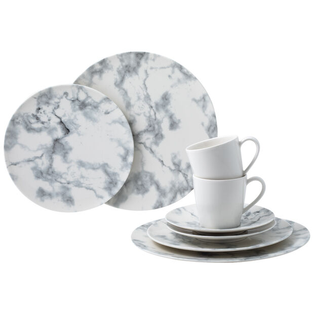 Marmory ensemble combiné White, blanc 8pièces, , large