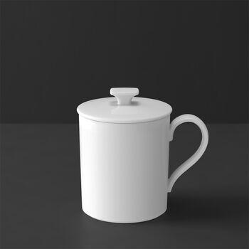 MetroChic blanc Gifts Mug avec couvercle 11,5x8,5x11cm