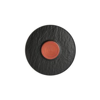 Manufacture Rock Glow sous-tasse à café, cuivre/noire, 15,5x15,5x2cm