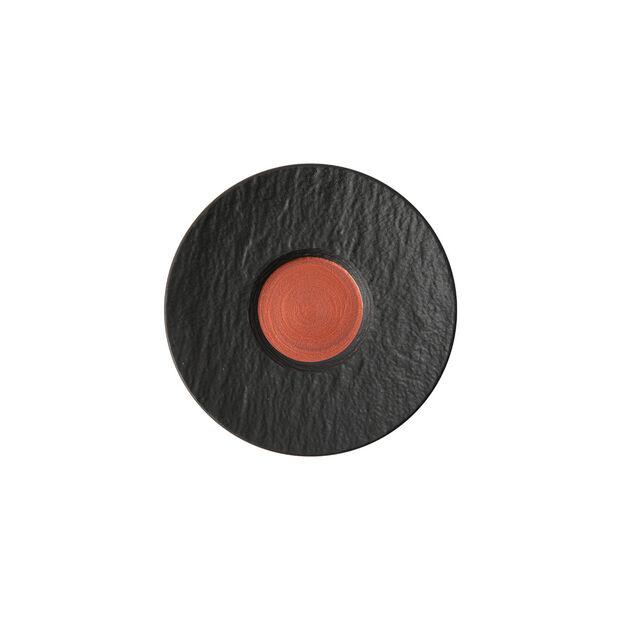 Manufacture Rock Glow sous-tasse à expresso, cuivre/noire, 12x12x2cm, , large