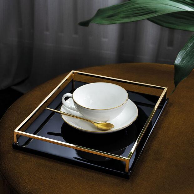 Anmut Gold tasse à thé, 200ml, blanc/or, , large