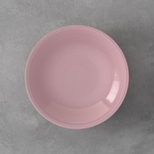 Color Loop Rose assiette creuse 23x23x4cm, , large