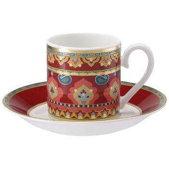 Samarkand Rubin Tasse moka avec soucoupe 2pcs