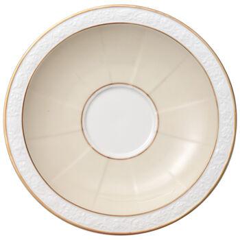 Ivoire Soucoupe tasse petit-déjeuner/bouillon 18cm