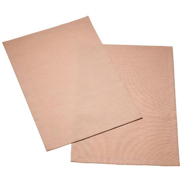 Textil Uni TREND Set de table rose peony Set 2 35x50cm, , large