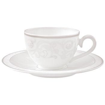 Gray Pearl Tasse à café/thé avec soucoupe 2pcs