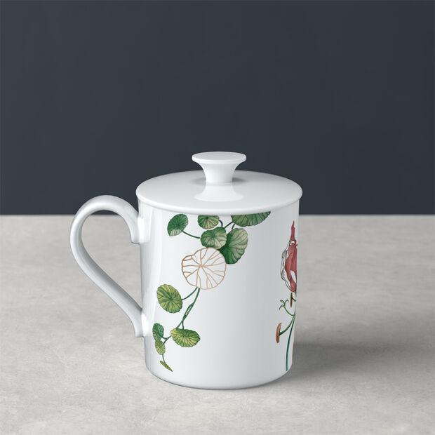 Avarua Gifts mug avec couvercle, 300ml, blanc/multicolore, , large