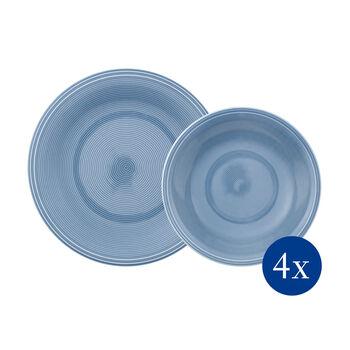 Color Loop Horizon service de table, bleu ciel, 8pièces