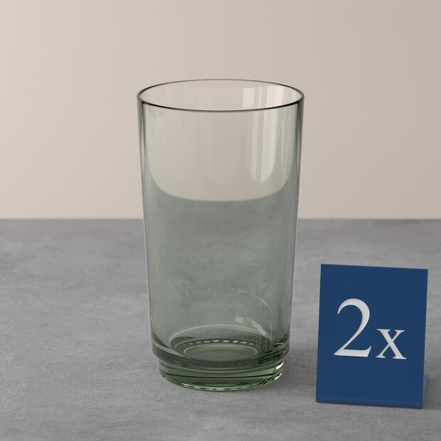 like. By Villeroy & Boch it's my match ensemble de verres à long drink mineral, vert, 8x14 cm, 2pièces, , large