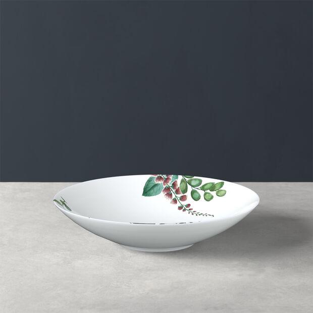 Avarua assiette creuse, 22cm, blanche/multicolore, , large