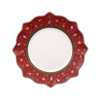 Toy's Delight assiette plate rouge