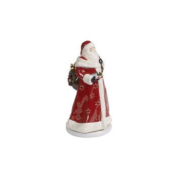 Christmas Toy's Memory Père Noël rotatif, rouge/multicolore, 17,5x20x34cm