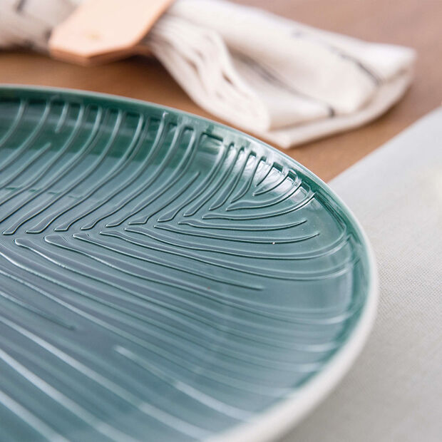 it's my match Green assiette Leaf, , large