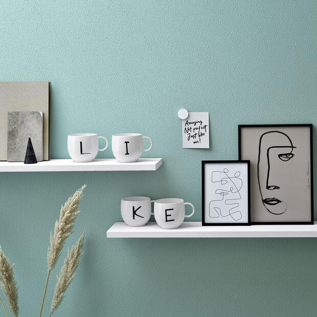 Mug Letters L 13x10x8cm, , large