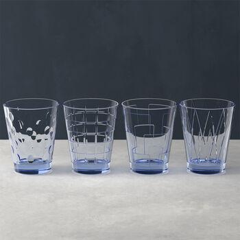 Dressed Up ensemble de verres à eau Blue, 4pièces
