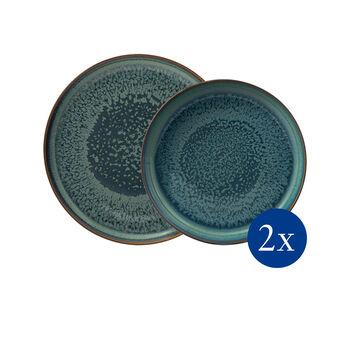 Crafted Breeze service de table, bleu-gris, 4pièces