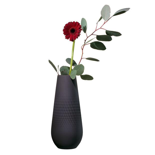 Manufacture Collier noir Vase Carré haut 11,5x11,5x26cm, , large