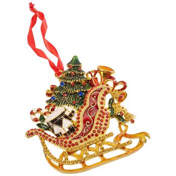 Winter Collage Accessoires suspension en métal, traîneau, multicolore, 12cm