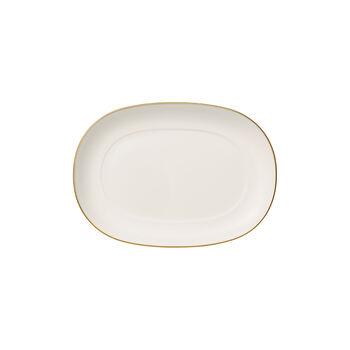 Anmut Gold bas de saucière, longueur 20cm, blanc/or