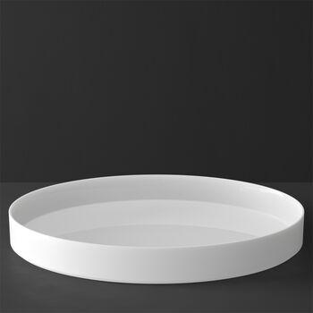 MetroChic blanc Gifts Coupe à servir / décorative 33x33x4cm