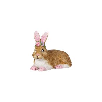 Easter Bunnies petit lapin allongé, marron/rose