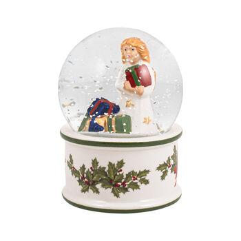 Christmas Toy's petite boule à neige, enfant Jésus, 6,5x6,5x9cm
