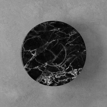 Marmory sous-tasse à café noire, 16x16x2cm