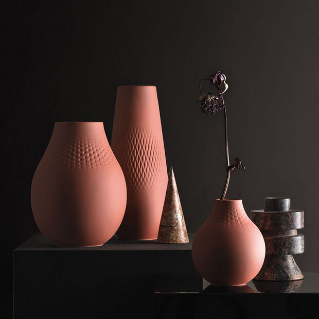 Manufacture Collier terre vase haut, Carré, 11,5x11,5x26cm, , large