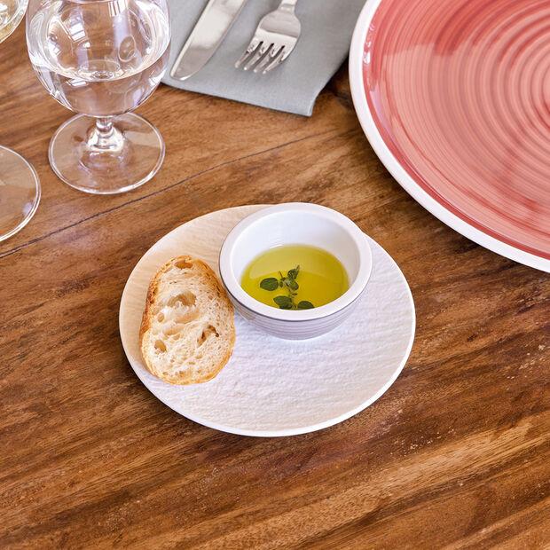 Manufacture Rock blanc Assiette à pain 15,5x15,5x2cm, , large