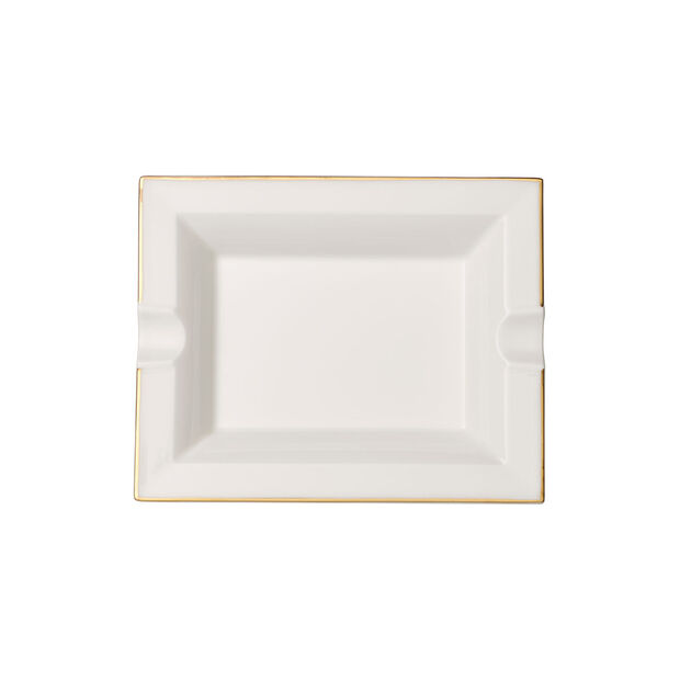 Anmut Gold cendrier, 17x21cm, blanc/or, , large