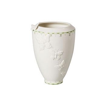 Colourful Spring vase haut, blanc/vert