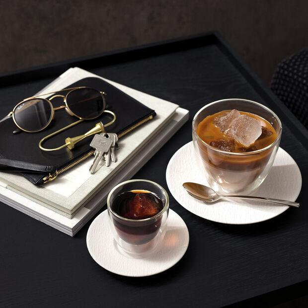 Manufacture Rock blanc Soucoupe tasse café au lait 17x17x2cm, , large