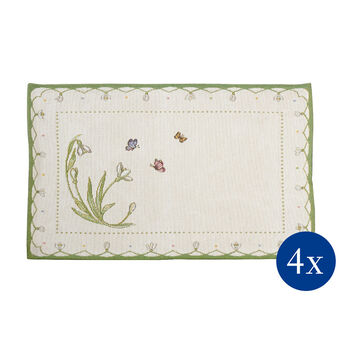 Colourful Spring Set table, perce-neige, 4p, 32x48cm