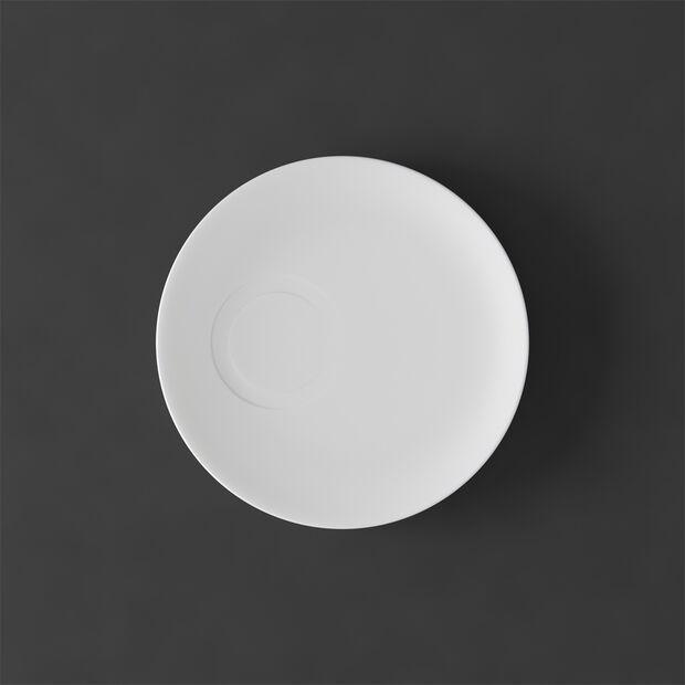 MetroChic blanc Soucoupe tasse moka 14,5x14,5x1,5cm, , large
