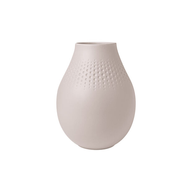 Manufacture Collier vase, 16x20cm, Perle, beige, , large