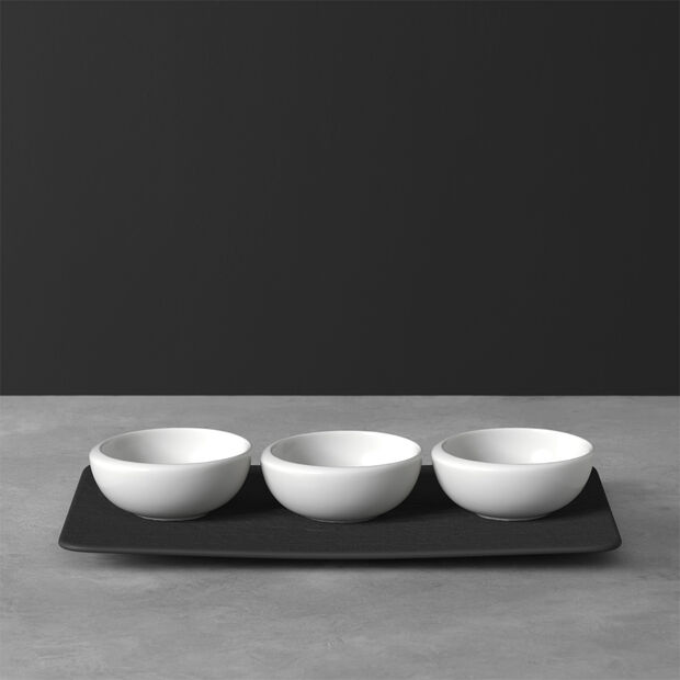 NewMoon ensemble de coupelles à dips, 4pièces, blanches/ardoise, , large