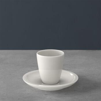 Artesano Original tasse à moka/expresso sans anse avec sous-tasse, 2pièces