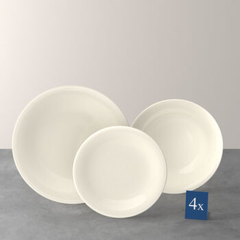 Color Loop Natural ensemble de vaisselle de base, naturel, 12pièces