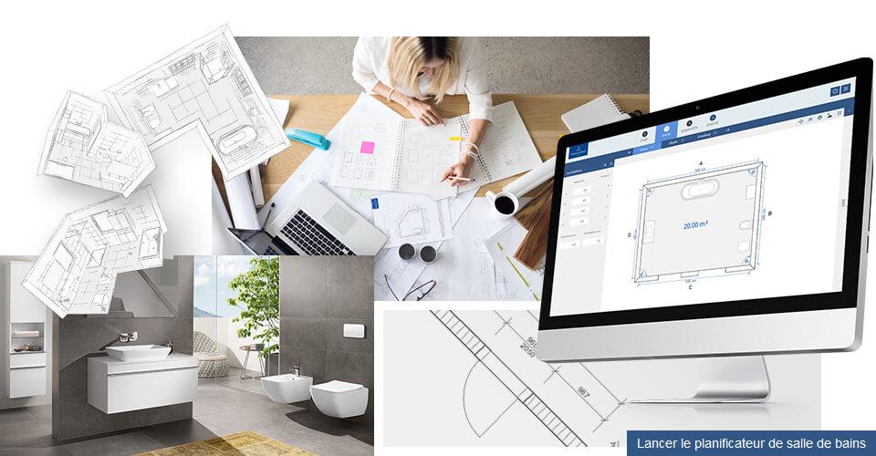 Programme de conception de salle de bains concevoir en for Planificateur de construction en ligne
