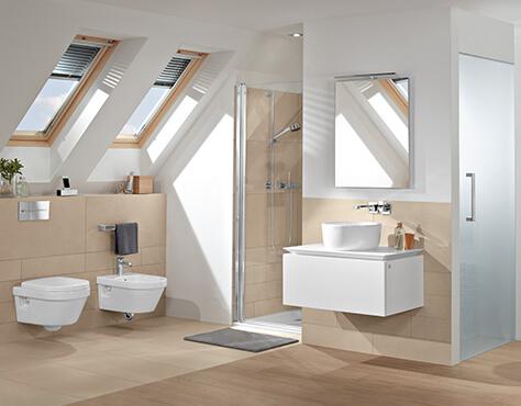 Les Salles De Bains Mansardées Utiliser Lespace Intelligemment - Configurateur de salle de bain