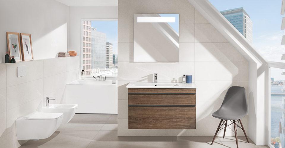 Les salles de bains mansard es utiliser l espace for Salle de bain 7m2 sous pente