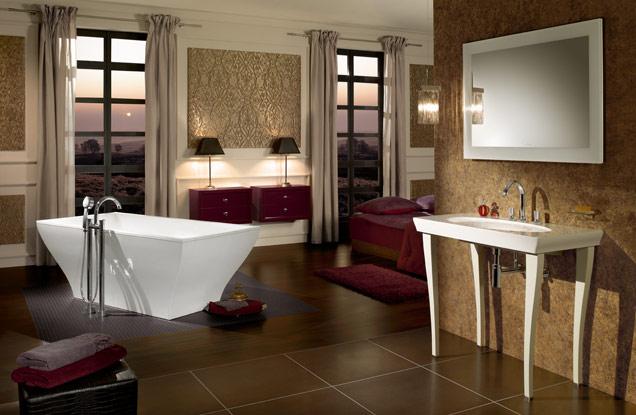 agencer meubler une grande salle de bains avec style villeroy boch. Black Bedroom Furniture Sets. Home Design Ideas