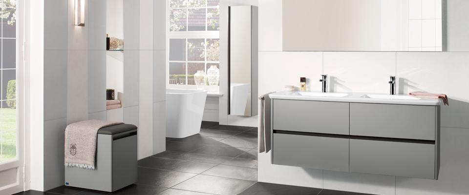 La collection vivia villeroy boch un confort vivre - Coiffeuse salle de bain ...