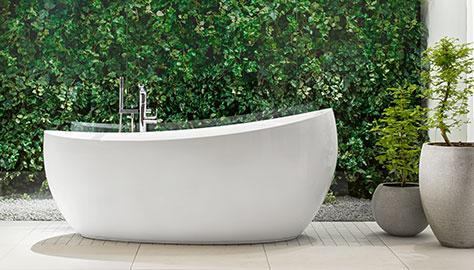 Les Baignoires De Forme Ovale Confèrent Une Atmosphère Sensuelle à Votre  Salle De Bains Et Créent Une Esthétique Incomparable.