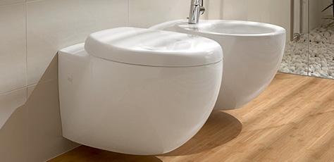 Bidets villeroy boch mod les sur pied ou suspendus - Bidet de salle de bain ...