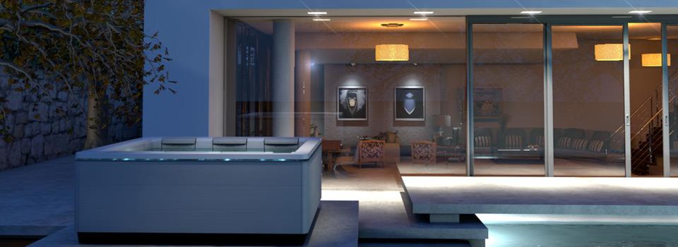 aper u des mod les de spas d 39 ext rieur de villeroy boch. Black Bedroom Furniture Sets. Home Design Ideas