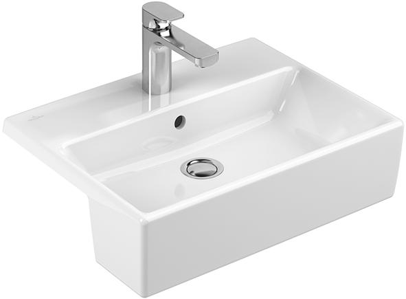 memento vasque semi encastr e angulaire 413355 villeroy. Black Bedroom Furniture Sets. Home Design Ideas