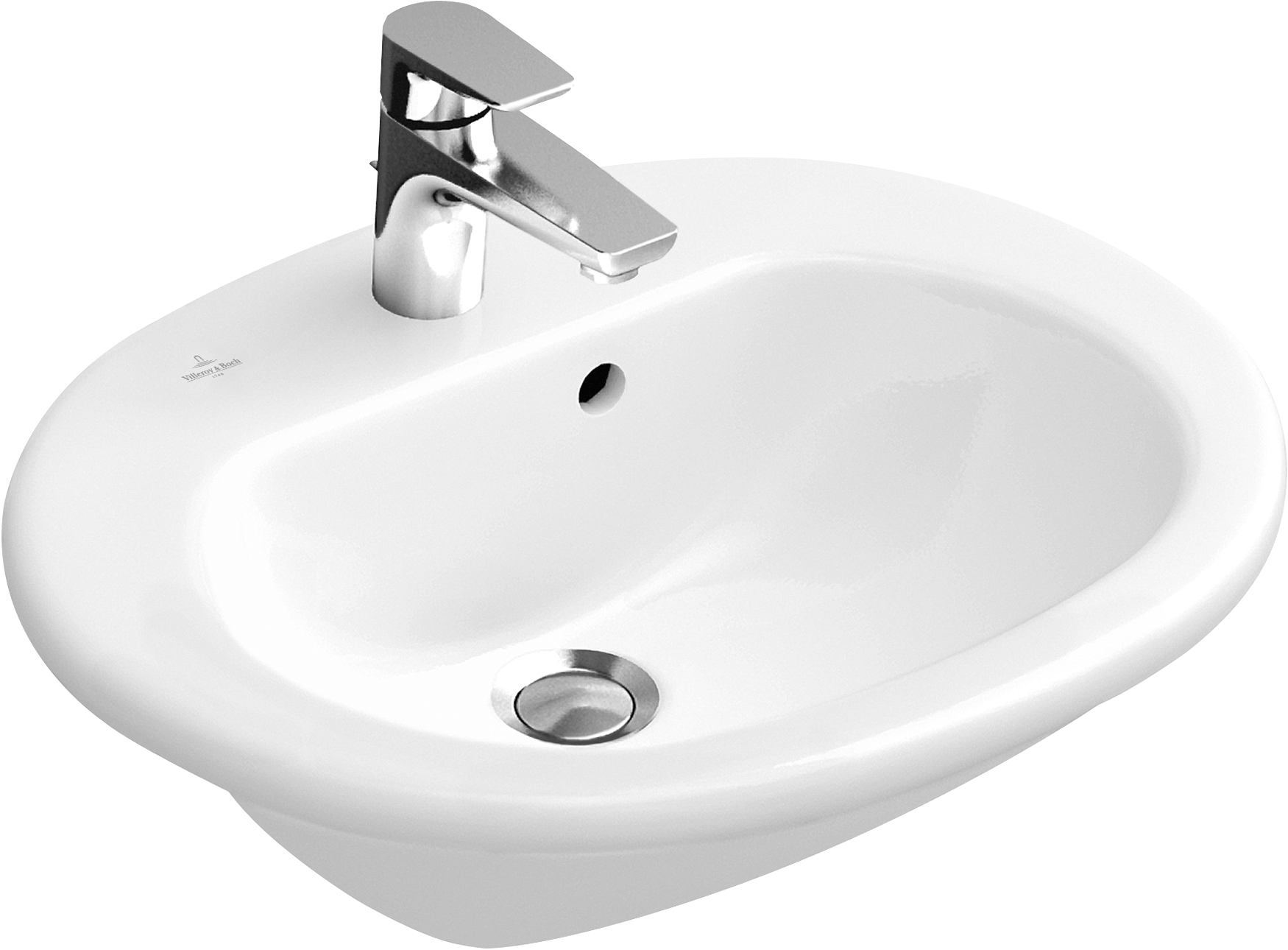 vasque semi encastr e ovale 416055 villeroy boch. Black Bedroom Furniture Sets. Home Design Ideas