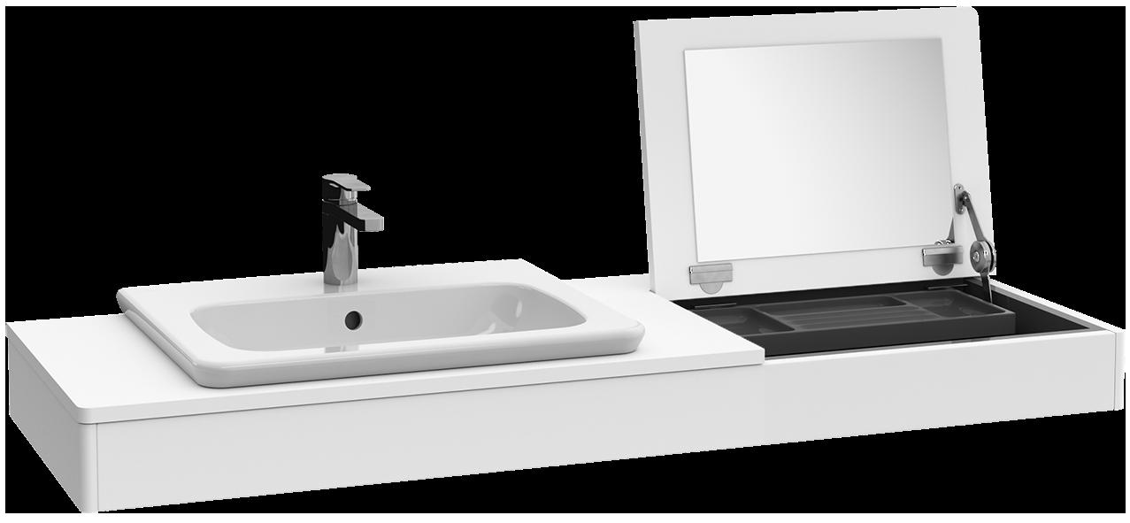 vivia console avec miroir b05200 villeroy boch. Black Bedroom Furniture Sets. Home Design Ideas